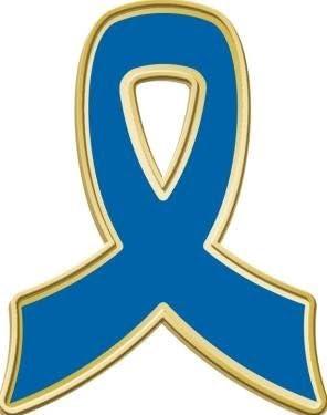Crown Awards Blue Awareness Ribbon Large discharge sale Lape 1