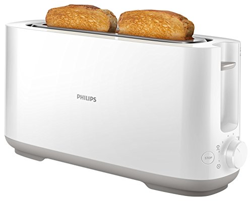 Philips Viva Collection Tostadora, 950 W, Plástico, Blanco/