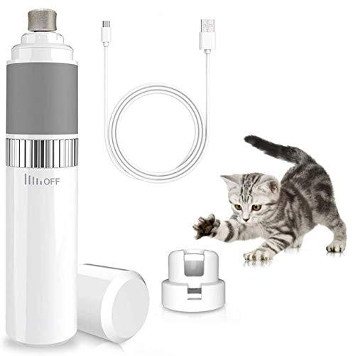 WeyTy Krallenschleifer für Hunde&Katzen, Nagelschleifer-30 Dezibel super-leise Lärm, Schnelle Aufladung USB-Anschluß, Sicheres Glatt Trimmen, Elektrischer Nagelfeile zum Kleine/Mittel/Groß Hunde