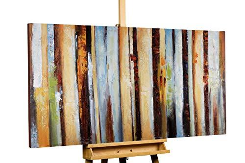 Kunstloft® Cuadro en acrílico 'Grados de perfección' 140x70cm   Original Pintura XXL Pintado a Mano sobre Lienzo   Abstracto Multicolor   Cuadro acrílico de Arte Moderno con Marco