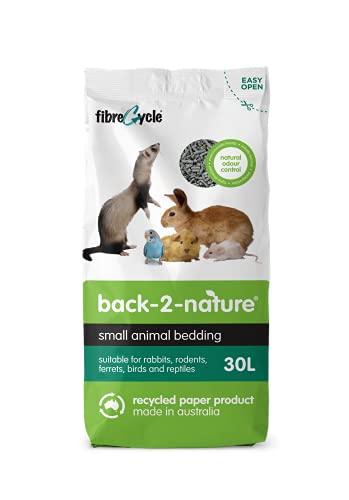 FIBRECYCLE Lecho de Papel Reciclado Back 2 Nature para Pequeños Mamíferos
