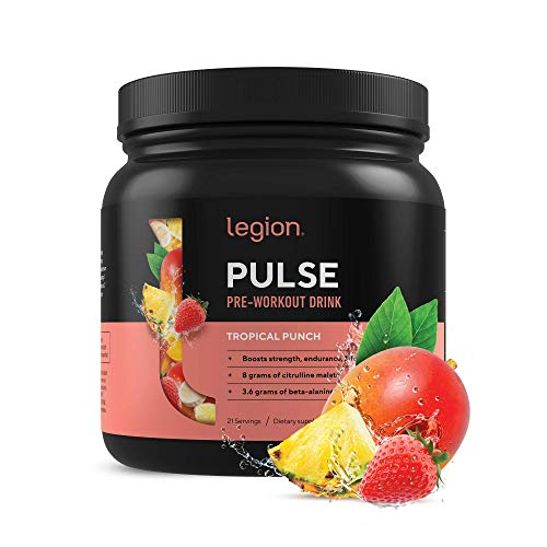 Legion Pulse, Best Natural Pre Workout Supplement for Women and Men – Powerful Nitric Oxide Pre Workout, Effective Pre Workout for Weight Loss, (Tropical Punch)