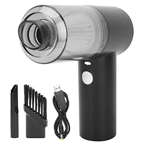 Aspiradora, 1500 mAh Batería Aspiradora para automóvil 6000 Pa Succión de Potencia Fuerte Ligero USB Recargable para la Limpieza del Interior del automóvil para el Pelo de Mascotas