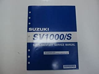 2005 Suzuki SV1000/S Supplementary Service Shop Repair Manual FACTORY OEM x