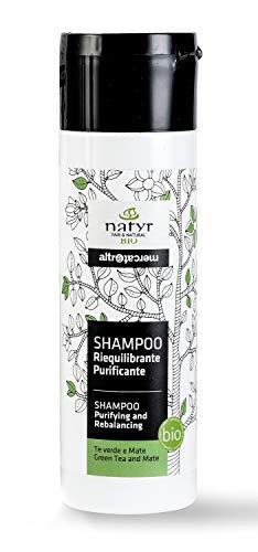 Natyr Bio Detox Shampoo mit grünem Tee und Mate 200 ml - hilft bei fettigem Haar und juckender Kopfhaut