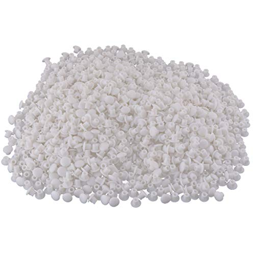 1000x Tapón De Agujero De Plástico Bisagra Tapa De Agujero Tapa De Obturación 5 Mm Para Puerta Cocina Armario Armario Armario - Blanco A