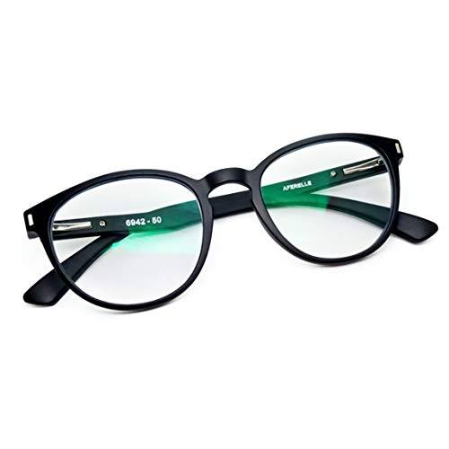 AFERELLE® Zero Power Blue Light Blocking Eye Protection Glasses Unisex (Matt Black,50mm)