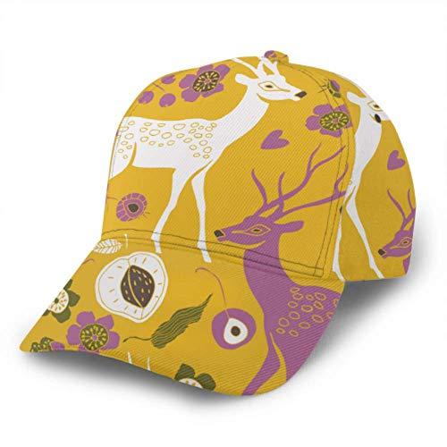 Gorra de béisbol de verano de ciervos de jardín ajustable unisex gorra de béisbol gorra de camionero sombrero se adapta a hombres mujeres sombrero