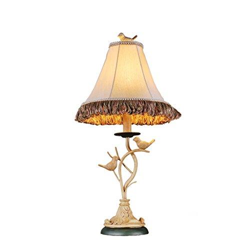 HLQW American Bird lámpara de Mesa Personalidad lámpara de Escritorio Pastoral Europea Dormitorio cabecero Creativo lámpara de Escritorio de Moda