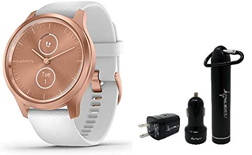 Garmin Vivomove 3 Style Hybrid Smartwatch and Wearable4U Power Pack Bundle (Rose Gold/White)