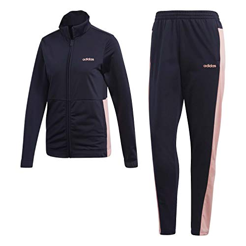 adidas Womens WTS Plain Tric Tracksuit, Legend Ink/Glory Pink, S