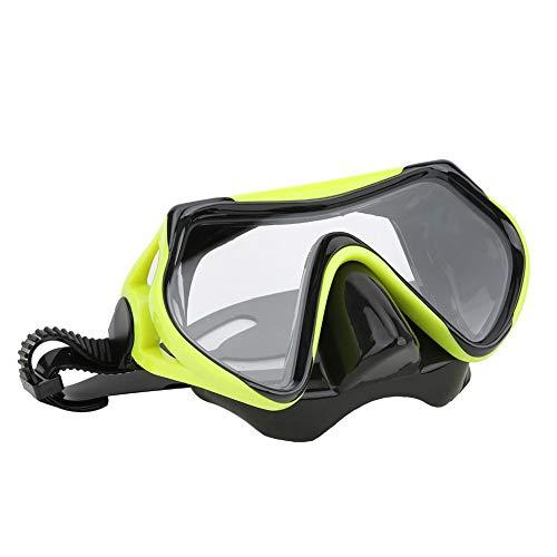Duikbril, siliconen Volwassenen Snorkelbril Gehard glas Grote weergave Zwembril Duikuitrusting Duikbril Zwembadbril