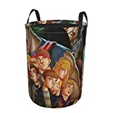 the goonies Laundry Basket Collapsible Laundry Hamper Drawstring Hampers Circular Storage Bins Waterproof Dirty Clothes Bag Toys Organizer For Car Round Tunic Dirty Pocket