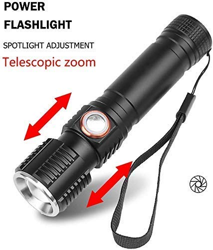 La antorcha de Zoomable LED │Super brillante T6 LED recargable antorcha de la luz Luz de trabajo Lámpara de inspección Faro │3 Modos ajustable de la antorcha impermeable for deportes al aire libre que