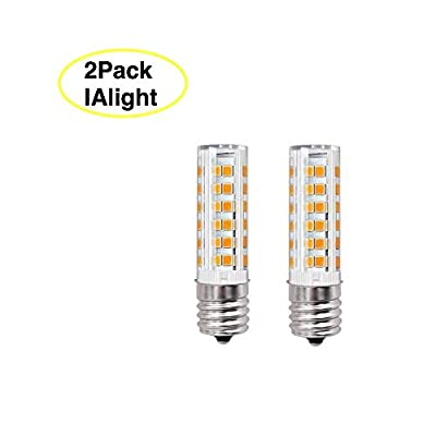 E17 Light Bulb 60 Watt Microwave 8206232A Light Bulb 5304440031 for Microwave Oven Stove Bulb | Microwave Exterior Light Bulb Warm White 3000K AC110-130V (Pack of 2)