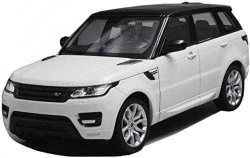 Modelo de Juguete coche modelo de Range Rover vehículo todoterreno 1,24 simulación de fundición a presión de aleación de juguete modelo de coche de la decoración del coche estático ( Color : White )