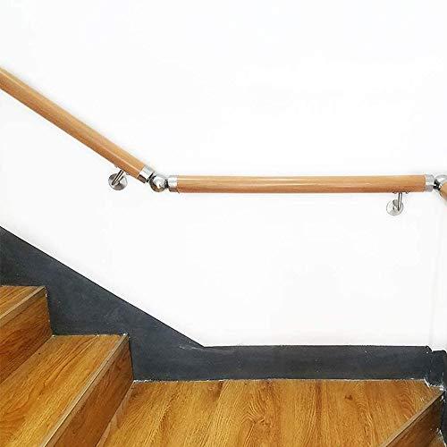 Treppengeländer Handlauf Handlauf, Rutschfester Holztreppenhandlauf, Start gegen die Wand Indoor Loft ältere Geländer Geländer Korridor Stützstange, Anpassbare Größe (Size : 180cm)