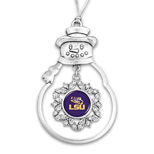 FTH 48584 Louisiana State University LSU Tigers Snowman Ornament with Rhinestones
