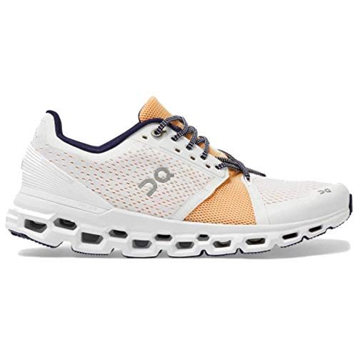 ON Running Women's Cloudstratus Sneaker Shoe (White Almond, Numeric_7_Point_5)