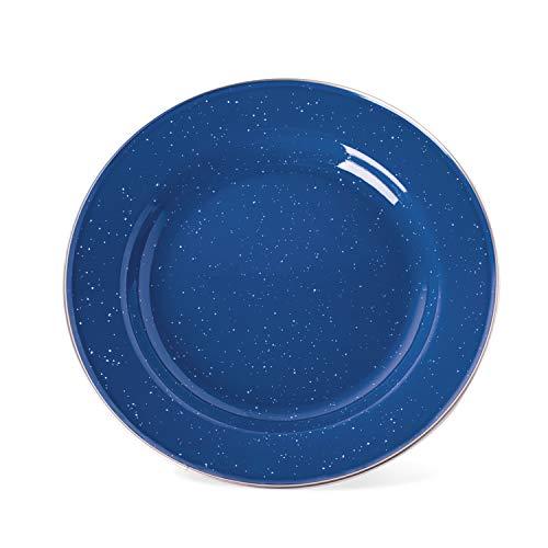 """Stansport S.S. Edge Enamel Dinner Plate, 10"""""""