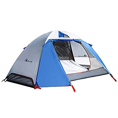 MOON LENCE Backpacking Tent 2 Person Camping Tent Double Layer Portable Outdoor Lightweight Tent Waterproof Wind Proof Anti-UV for Hiking Fishing Easy Setup