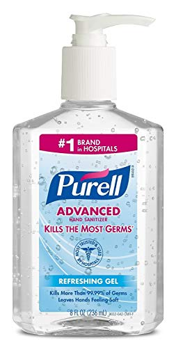 Purell Advanced Hand Sanitizer Refreshing Gel 8 oz (Pack of 4)