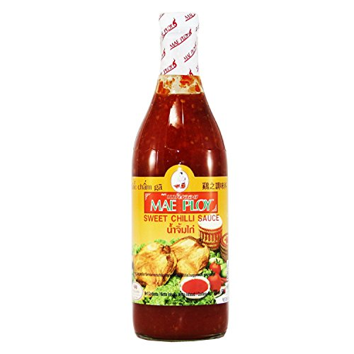 Mae Ploy Brand Chili Sweet Sauce, 25oz Glass Bottle