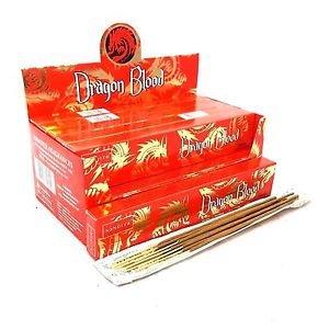 3 X Dragons sang Nandita Packs de bâtons d'encens 15 g avec badge de souvenir par Sterling Effectz