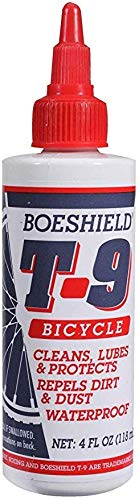 Boeshield T-9 Bicycle Chain Waterproof Lubricant and Rust Protection (4 Fl Oz)