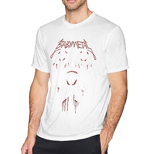 Babymetal T Shirt White 5XL Men T-Shirt aus Baumwolle für Herren Kurzarm Männer Tshirt Rundhalsausschnitt