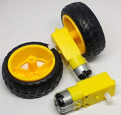L-Yune,bolt 4pcs TT Motor 130motor With The Wheel 2pcs TT Motor+2pcs 65mm Wheel Smart Car Robot Gear Motor DC3V-6V DC Gear Motor For Arduino (Color : As show)