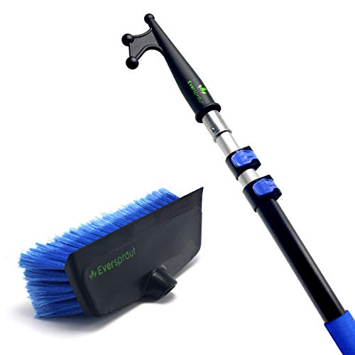EVERSPROUT 5-to-13 Foot Boat Hook & Scrub Brush Kit   3-Stage Lightweight Telescopic Extension Pole...