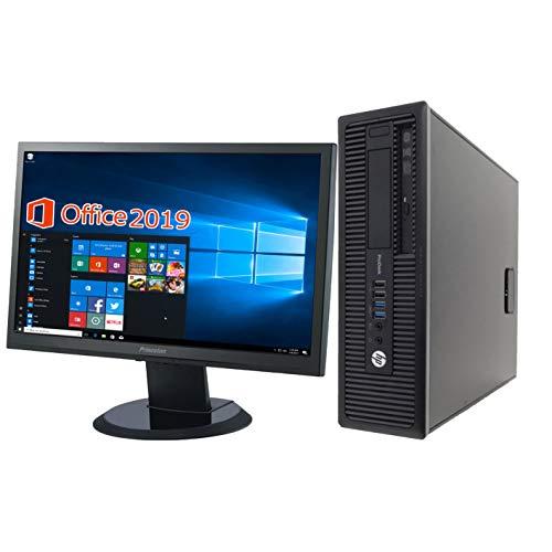 HP デスクトップPC 600G1/22型液晶セット/MS Office 2019/Win 10/Core i5-4570/wajun(ワジュン)WIFI/Bluetooth/DVD-RW/4GB/128GB SSD (整備済み品)