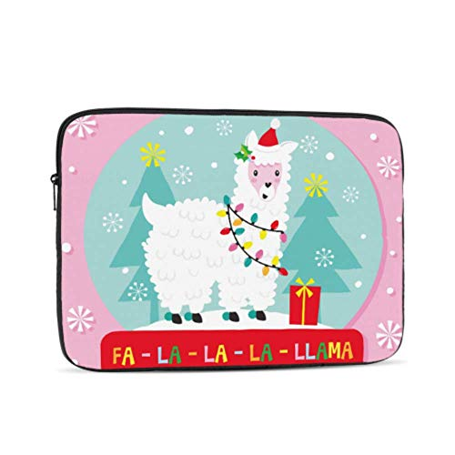 MacBook Pro 13 Cases Christmas Llama Globe Laptop Case 13 Inch Multi-Color & Size Choices10/12/13/15/17 Inch Computer Tablet Briefcase Carrying Bag