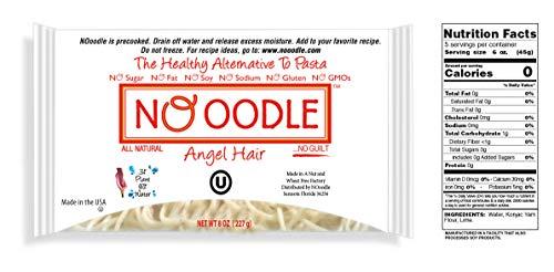 NOoodle No Carb Pasta, Zero Calories, Gluten Free, Keto Friendly, Best Tasting Shirataki Noodles (Fettucine 6 Pack)