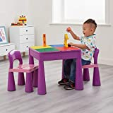 Liberty House - Juego de Mesa y 2 sillas Infantiles, Color Morado