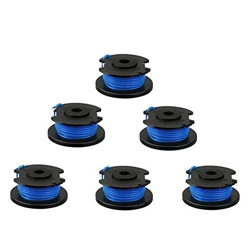 Rasentrimmer-Spule, Ersatz für Ryobi One Plus AC14RL3A, 18 V, 24 V, 40 V, 3,4 m, 2,0 mm, Auto-Feed, schnurloser Unkrautfresser, Spulen und Schnur mit AC14HCA und Kappe, Abdeckungen, Teile