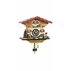 Trenkle Kuckulino Black Forest Clock Swiss House with Quartz Movement and Cuckoo Chime TU 2058 PQ