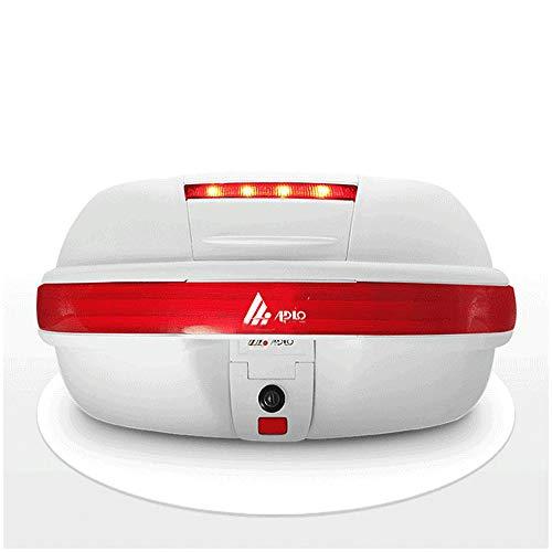 ZMCOV Motorradkoffer, Gepäck Scooter Top Back Box, Moped-Box, Back-Box-Motorrad Mit LED-Licht, Platz Für 2 Integralhelme
