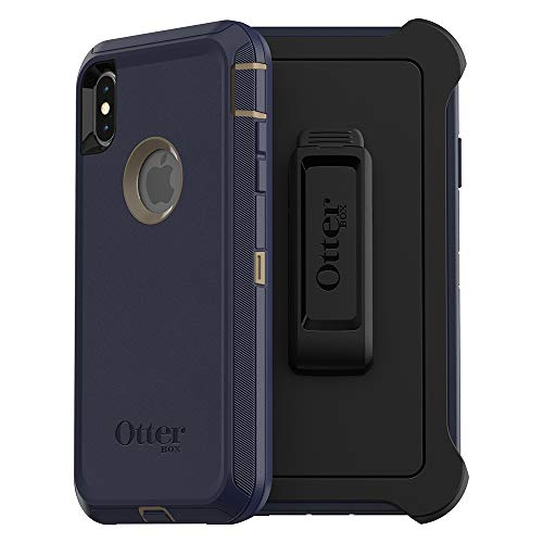 OtterBox DEFENDER SERIES SCREENLESS EDITION Case for iPhone Xs Max - Retail Packaging - DARK LAKE (CHINCHILLA/DRESS BLUES)