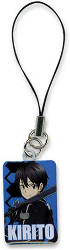 Sword Art Online Anime S.A.O. Charm Cell Kirito Metal Phone We NEW before selling ☆ OFFer at cheap prices