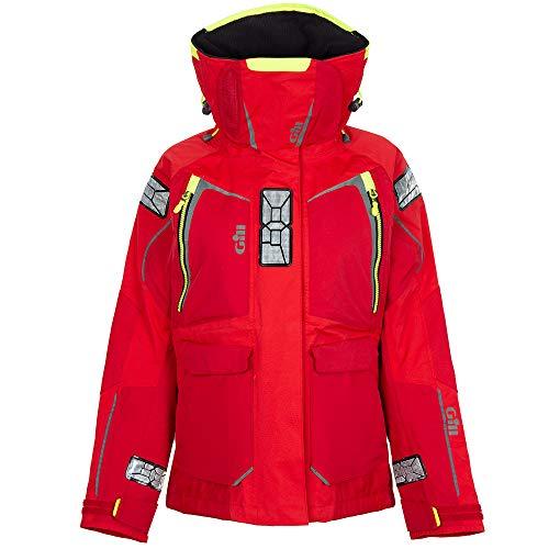 Gill Womens OS1 Offshore Segelyacht Ocean Coat Jacket Mantel in Rot - Leichtes Thermofutter - Wasserdicht und Atmungsaktiv