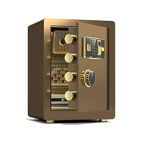 La Caja Fuerte de Seguridad para el hogar pequeño es ignífuga y antirrobo, gabinetes de Seguridad de Acero, Caja de Efectivo con Bloqueo de contraseña de Huella Digital electrónica, Puede almacenar