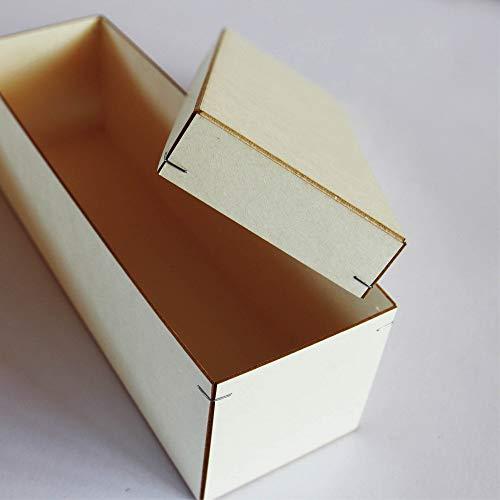 Wandtattoo Loft Aufbewahrungskarton für Taufkerze 25 x 7 cm aus praktischem Holzkarton mit Stülpdeckel Kerzenbox Kerzenkarton