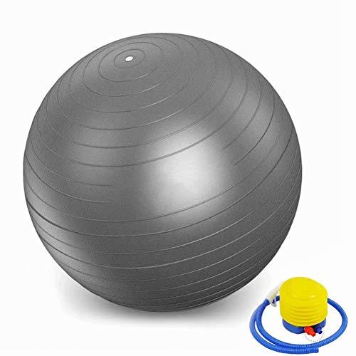 HUANGXIU Mini Yoga Ball Körperliche Fitness Ball Für Fitness Gerät Übung Balance Ball Heimtrainer Gym Yoga Pilates-grau,100cm