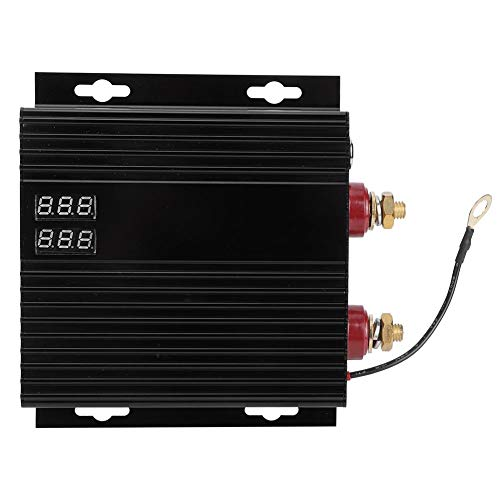 Yctze Aislador de batería 12V-24V 250A Aislador de baterías Dobles automotrices Protector de batería de energía Negro con indicador LED para automóvil RV