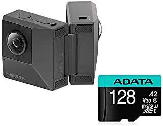 Insta360 EVO + 128GB ADATA MicroSDXC, 180 Degree 3D and 360 Fold-able Camera, 5.7K Videos + 18MP Photos, with FlowState Stabilization (EVO + 128GB MicroSDXC) [並行輸入品]