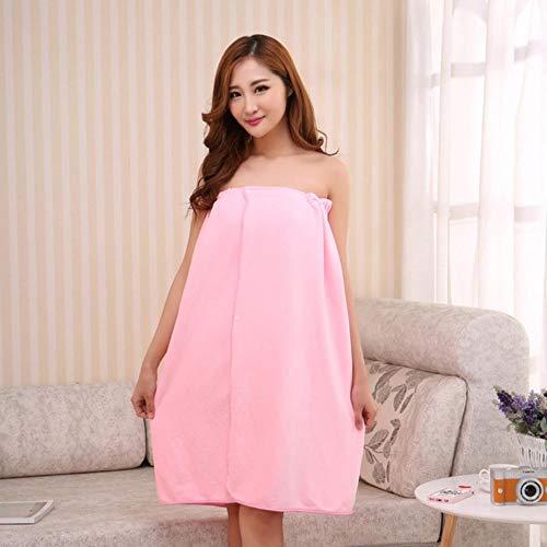 Gbcyp Dames Badhanddoeken voor volwassenen Badjas Badjas Body Spa Bad Wrap Handdoek Badjas Servet Badhanddoek, roze