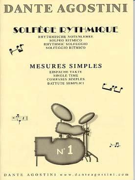 Agostini - Solfège Rythmique - Volume 1 - Mesures...