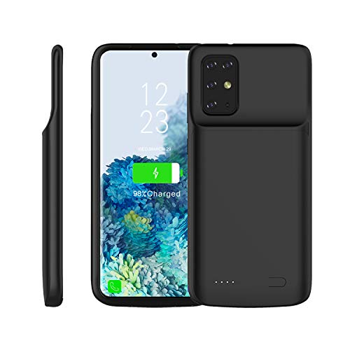 Custodia Batteria Samsung Galaxy S20 Plus, 6000mAh Esterna Portatile Ricaricabile Power Bank Battere Integrata Protettiva Cover per Samsung Galaxy S20 Plus, Nero